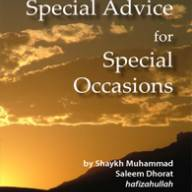 Special Advice for Special Occassions